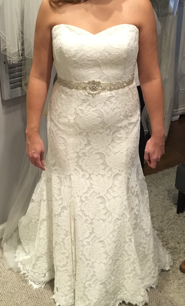 $500 size 16 gal in GA  Carrafina wedding dress currently for sale at 28% off retail.