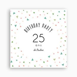 invitation anniversaire adulte 25 ans en f te 0 anniversaire adulte pinterest. Black Bedroom Furniture Sets. Home Design Ideas