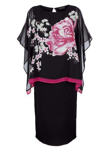 2-in-1-Kleid mit Blütendruck   Festliche kleider knielang ...