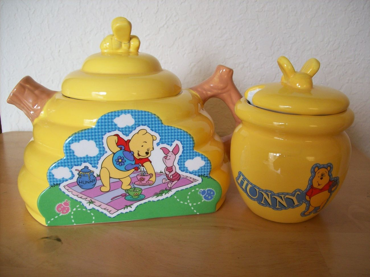 Winnie the pooh bathroom sets - Disney Winnie The Pooh And Piglet Teapot And Hunny Jar
