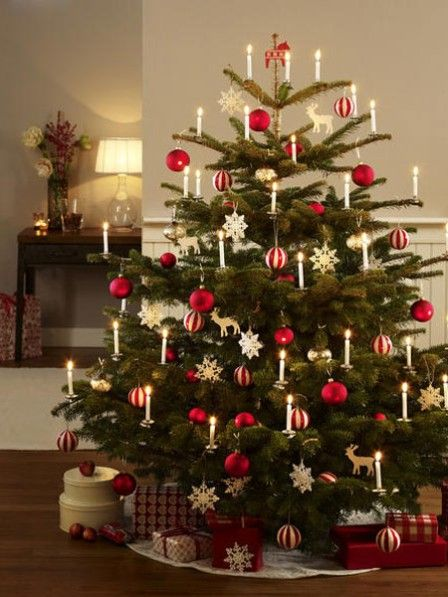festlich wir dekorieren den christbaum weihnachten. Black Bedroom Furniture Sets. Home Design Ideas