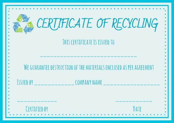certificate of destruction hard drive template