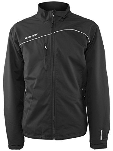 Bauer Midweight Senior Hockey Warm Up Jacket Blacklarge You Can Find More Details By Visiting The Image Link Note It Is Team Jackets Jackets Hockey Clothes