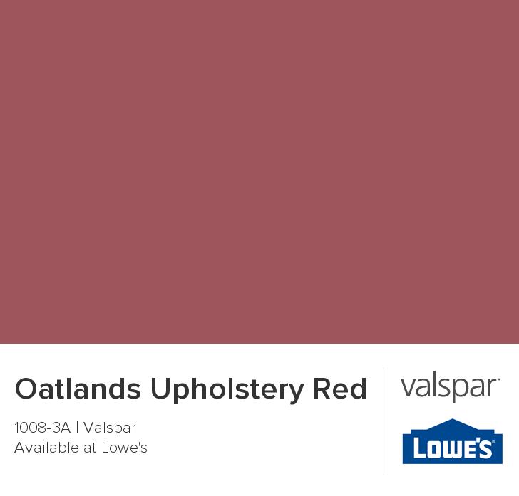 Ich Habe Diese Farben Mit Colorsnap Visualizer Für Iphone: Oatlands Upholstery Red From Valspar
