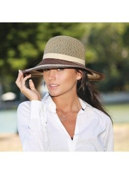 Wallaroo Hats Adjustable and Packable Nola Striped Straw-Available in Black  or Brown combination 2606a72f77e