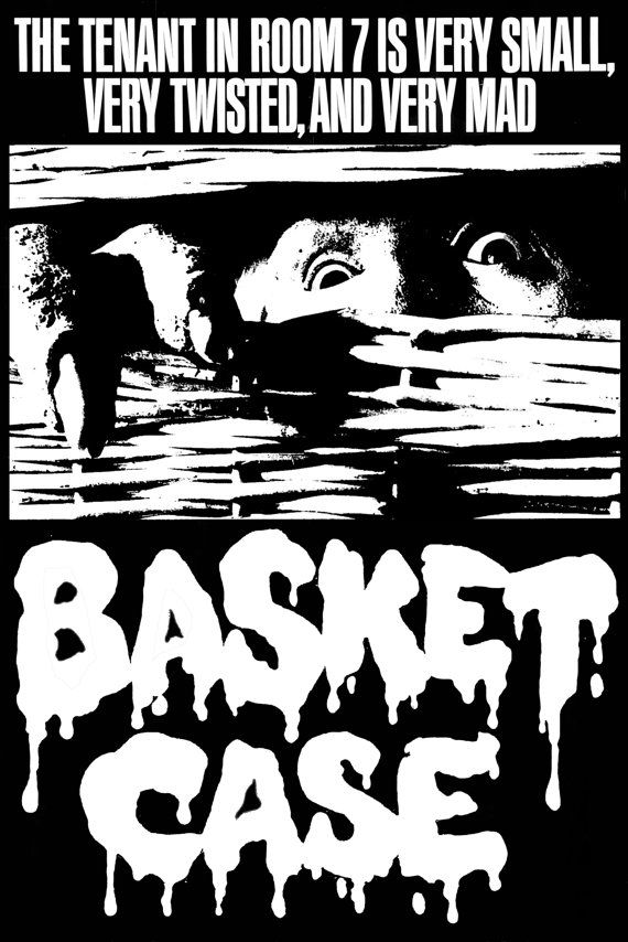 3a6e5be9be9 This is a custom t-shirt for the horror   exploitation   grindhouse movie BASKET  CASE from 1982. It is printed in high quality white plastisol ink (NOT A ...