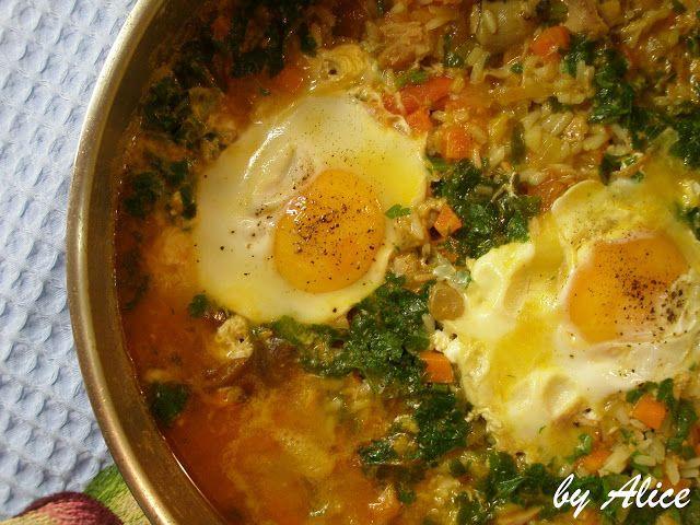 Alice na Cozinha Maravilha: Arroz de Atum com Ovos Escalfados...e uma História...