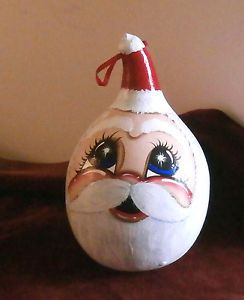 Santa Claus Face Starry Eyed Santa Christmas Ornament Signed Ti '00