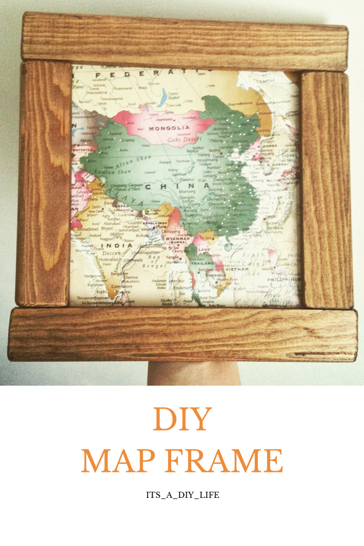 DIY WOODEN MAP FRAME  Finding decor for a pirate bedroom is hard in