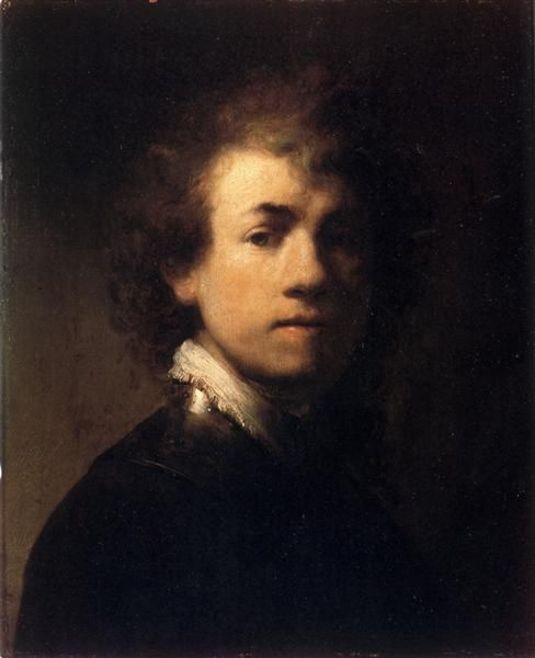 Self-portrait In A Gorget, 1629 by Rembrandt. Baroque. self-portrait. Private Collection