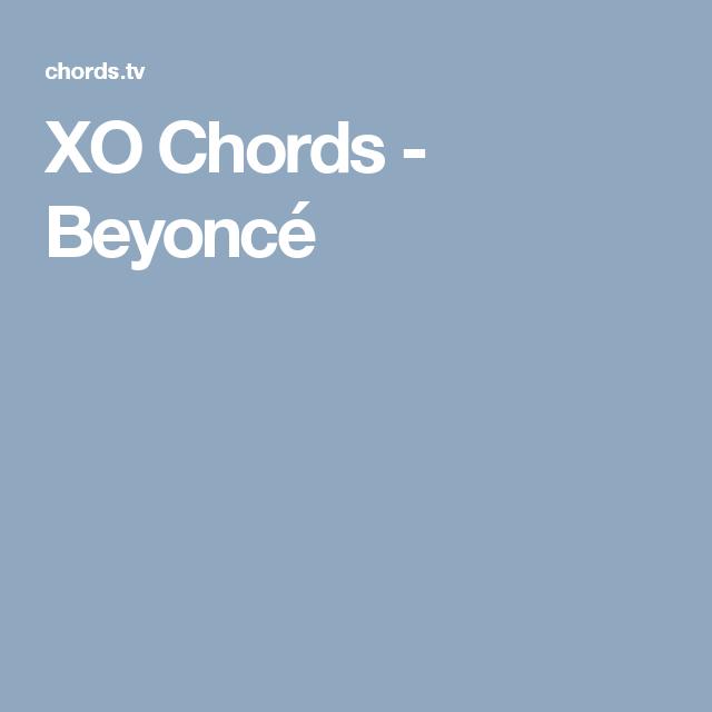 Xo Chords Beyonc Sheet Music Pinterest Ukulele Songs Sheet