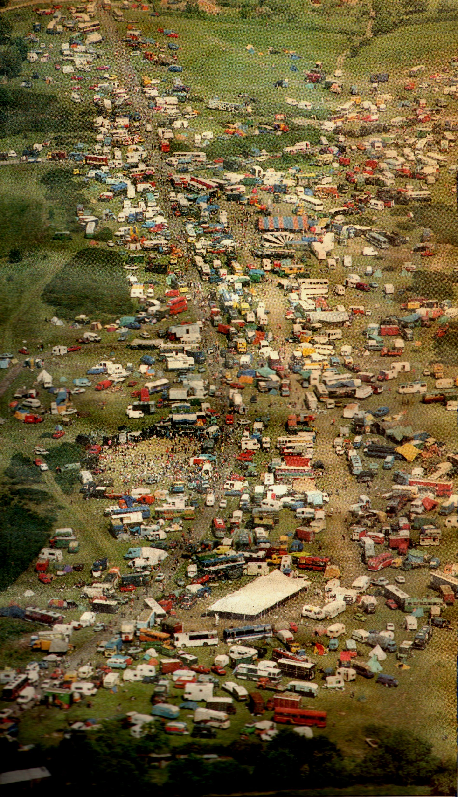 trying to play spot our van at my first free festival 1992