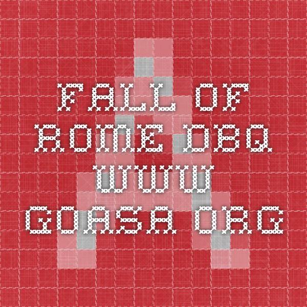fall of rome dbq