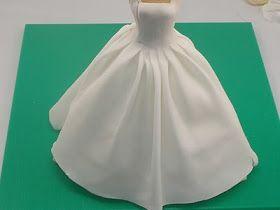 Como hacer un vestido de novia en fondant