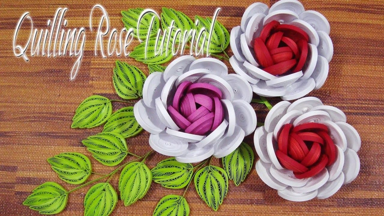 Quilling Rose Flower Tutorial Flower Tutorial Diy Paper And Quilling