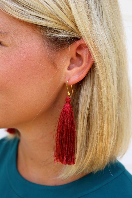 tassel earrings by southern_sequins on instagram