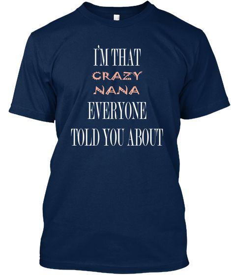 Nana T Shirt Navy T-Shirt Front