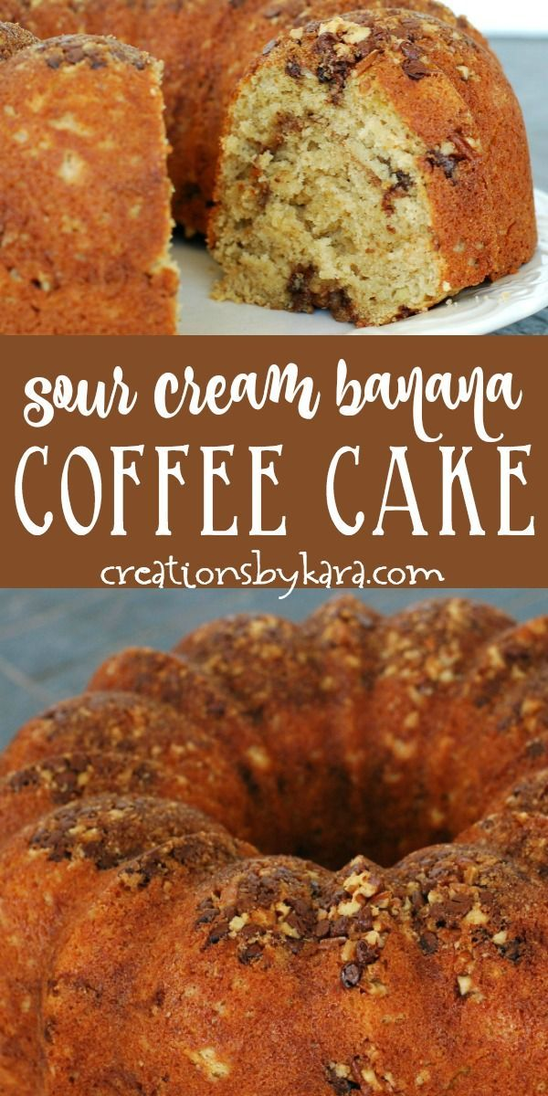 You Ll Love This Recipe For Banana Coffee Cake With Chocolate And Nut Topping Bananacoffeecake Sourcreambanan Banana Coffee Cakes Banana Recipes Coffee Cake