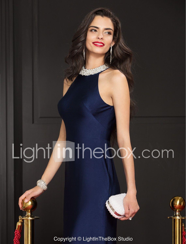 b322dce6d827 Ίσια Γραμμή Με Κόσμημα Μακρύ Ζέρσεϊ Επίσημο Βραδινό   Μαύρο γκαλά Φόρεμα με  Χάντρες με TS Couture® 4815847 2018 – €72.89