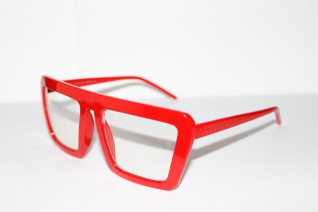 fe2cdfba7783 Red Square Frame Reading Glasses | Cazal Design Sunglasses Geek Shades Nerd  Square Shape All Red Frame .