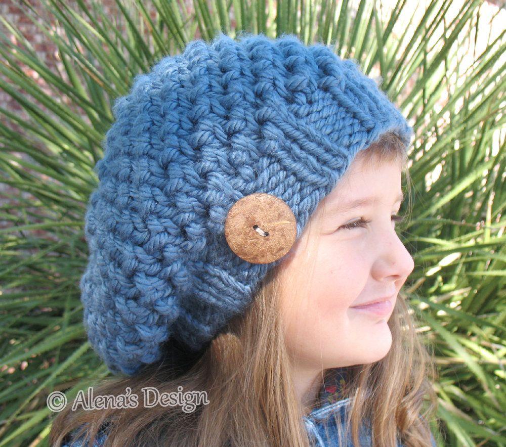 Knitting Pattern 094 Slouchy Hat Knitting Pattern Knitting Patterns ...