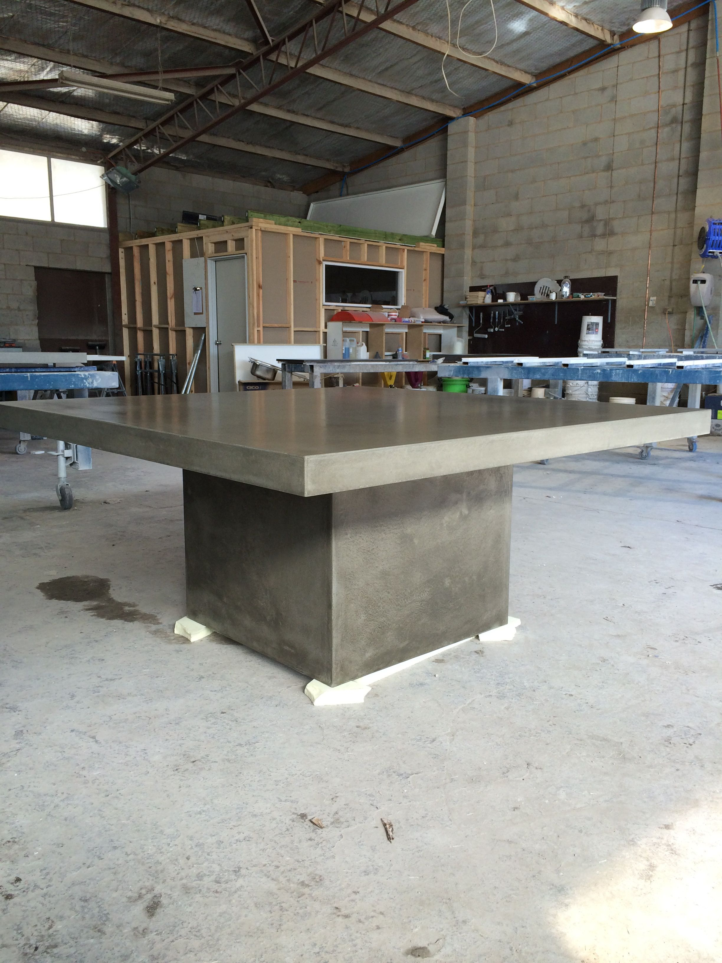 Polished Concrete Table By Mitchell Bink Concrete Design.