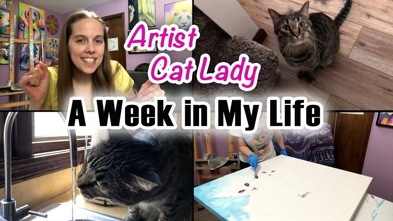 A Week In My Life Vlog Of An Artist Cat Lady Birthday Edition In In 2020 Cat Lady Birthday My Art Studio Lovers Art