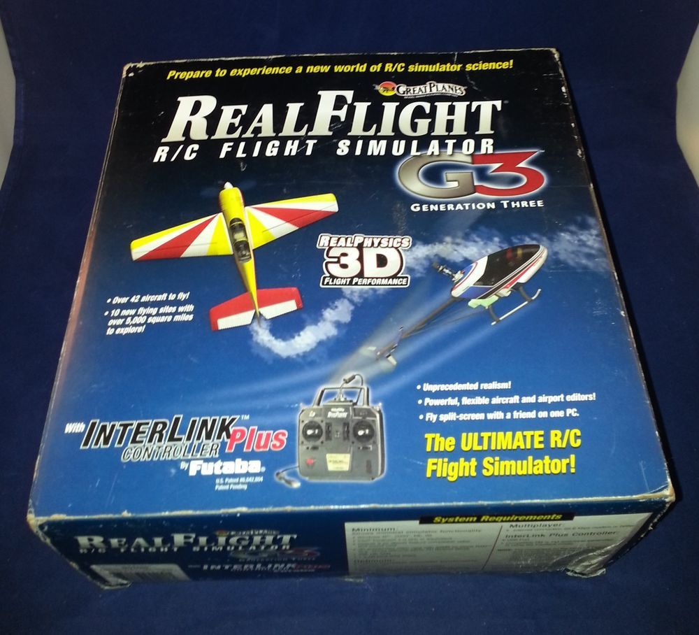 GreatPlanes G3 Real Flight R/C Simulator Futaba controller + G3.5 upgrade cd USB #REALFLIGHT