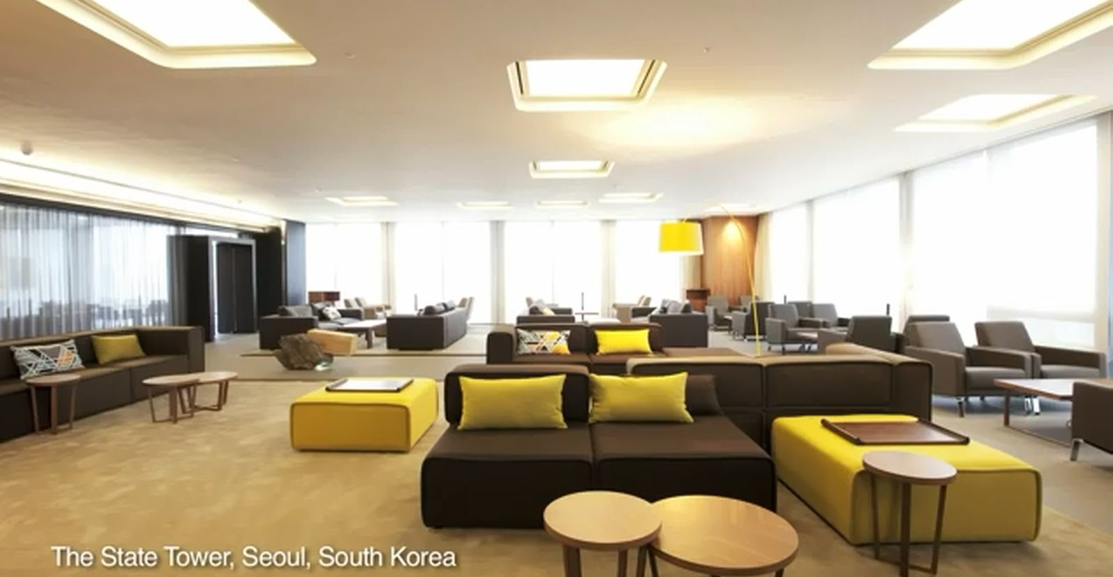 boconcept carmo sofas in the state tower seoul south korea design commercial corporate. Black Bedroom Furniture Sets. Home Design Ideas