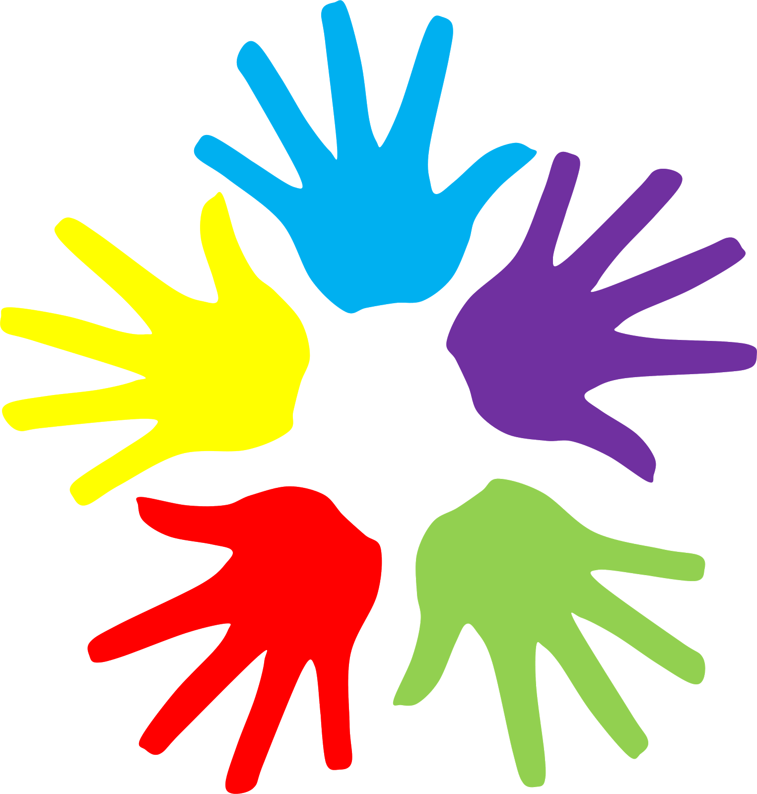 Colorful Hands Clipart Free Cliparts Hand
