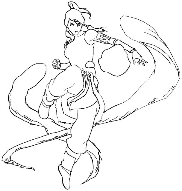 free legend of korra coloring pages | The Legend Of Korra Handler Elements Coloring Pages ...