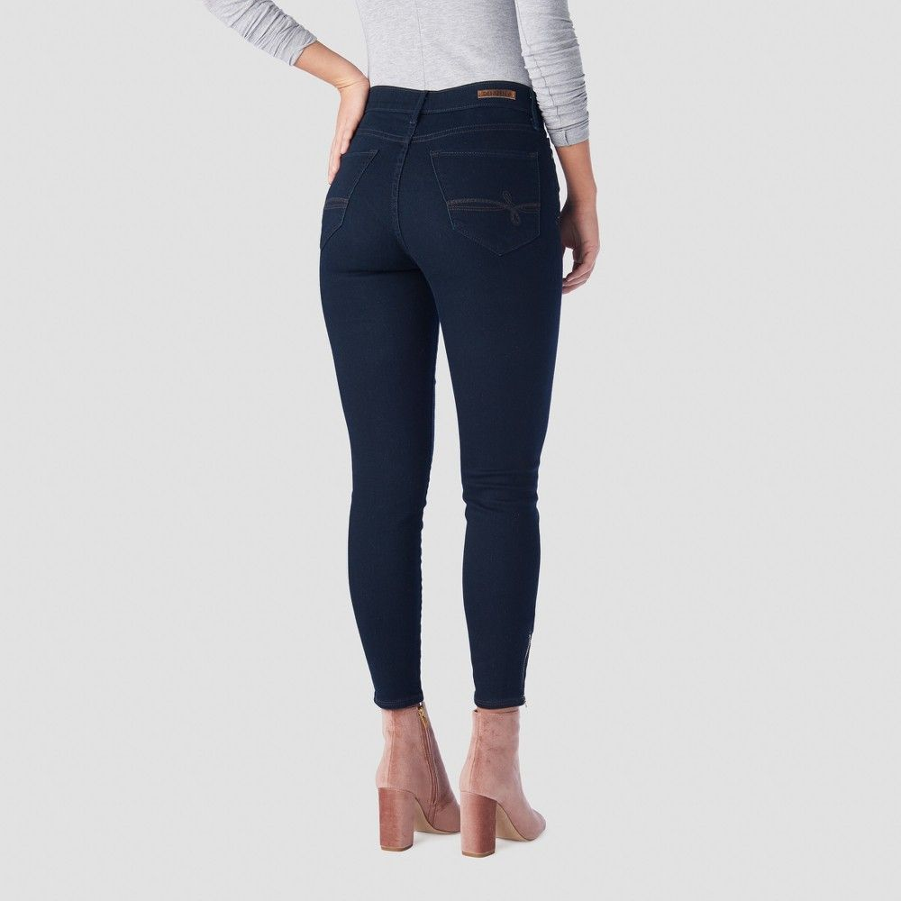 db988491aec19 Denizen from Levi's Women's High-Rise Ankle Zip Jeggings - (Juniors') Dark  Wash 11 Gender: Female. Age Group: Adult. Pattern: Solid. Material: Cotton.