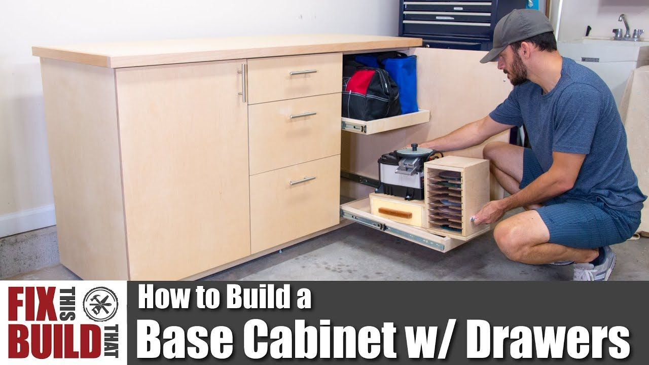 How To Build A Base Cabinet With Drawers Diy Shop Storage