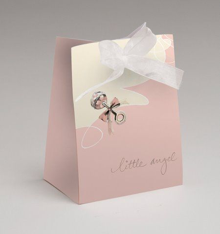Match the favors to the party with our adorable 4-inch-tall deluxe mini bags with sparkling sheer ribbon ties. Matches the Little Angel party. Base measures 3 inches by 2 inches. Sold in quantities of 18.