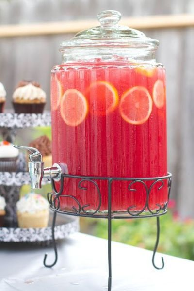 Bridal Shower Punch Frozen Lemonade Halloween Party Foods Appetizers Fruit Punch