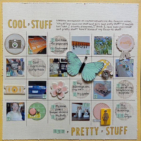 grid style layout #BPCstudent @JenniferLarsen Scrapbook Layouts