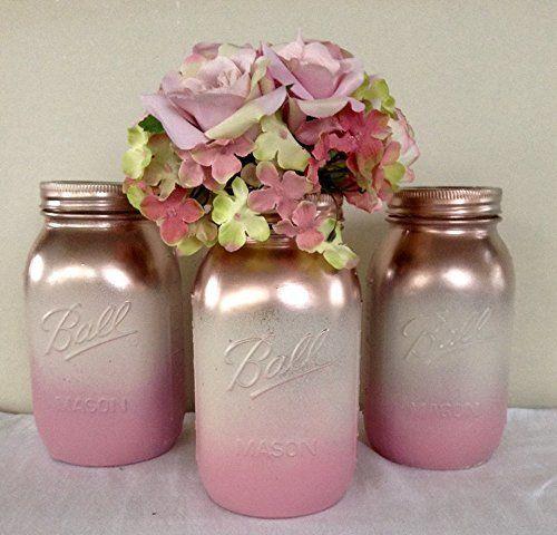 32++ Diy rose gold mason jars ideas in 2021
