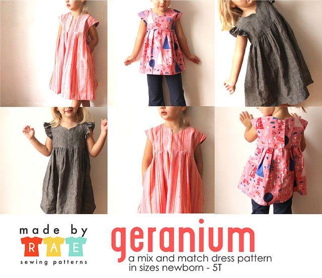geranium | Kinderkleider, Nähideen und Mädchen