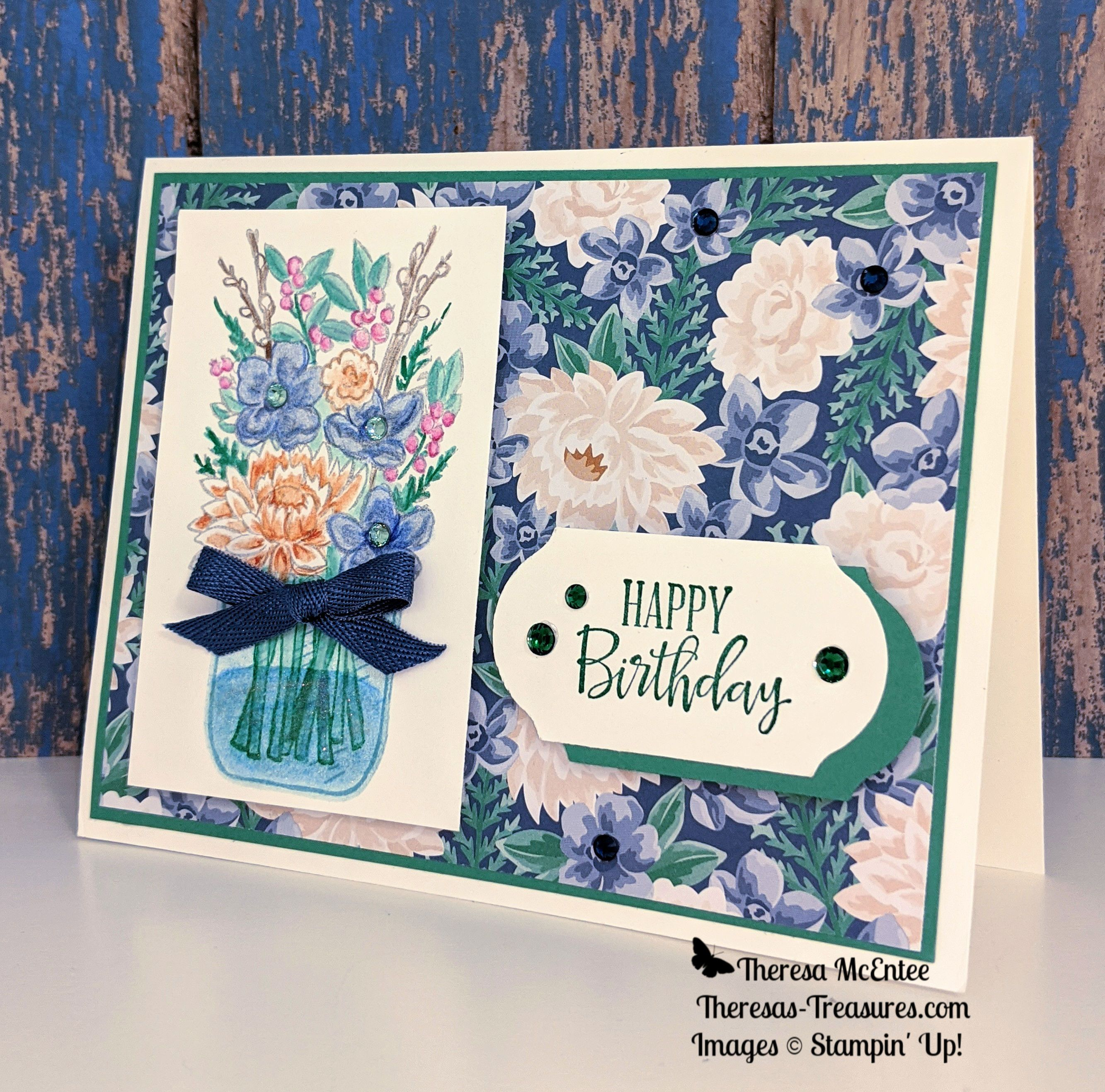 flowers for every season jar of flowers stampin' up