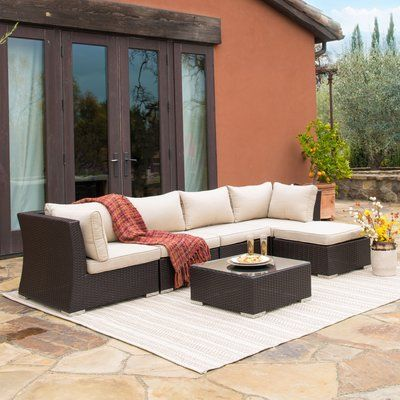 Catalina Outdoor Right Arm Sectional Piece with Cushions Garden