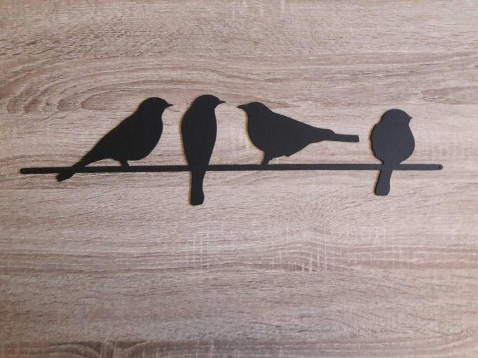 Birds On A Wire Metal Sign Justfun Metal Bird Wall Art Wire