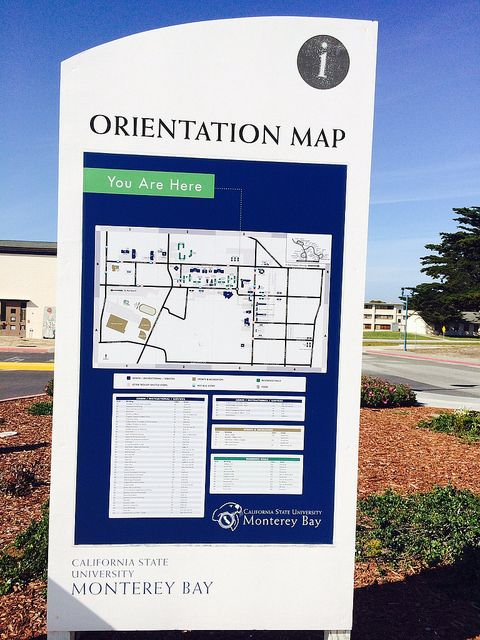 Csu Monterey Bay Campus Map.Orientation Map My College Visits Pinterest Monterey Bay