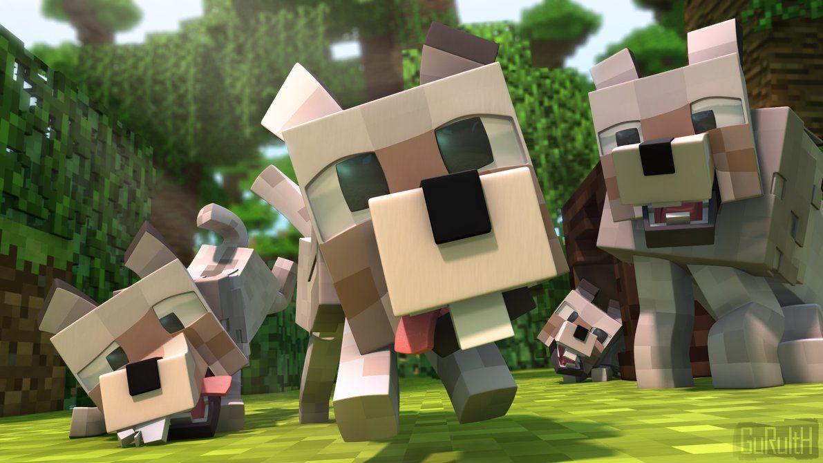 Minecraft Animated Wolves Minecraft Songs Minecraft