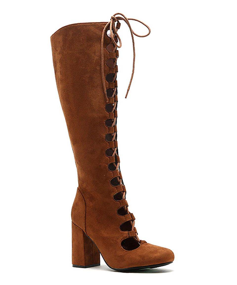 Look what I found on #zulily! Camel Lace-Up Tess Boot by Qupid #zulilyfinds