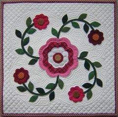 Rose Of Sharon Quilt Pattern Line Method Applique