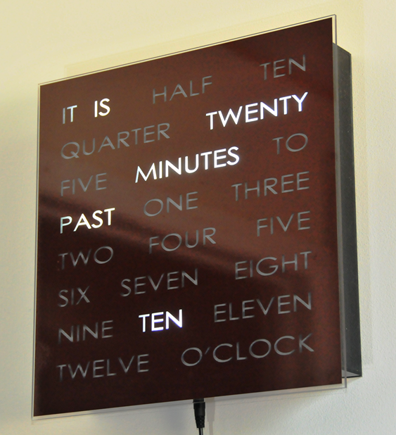 Dougs Word Clock | A Clever Way To Read The Time Amazing Design