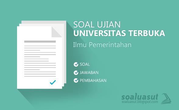 Soal Ujian Ut Universitas Terbuka Ilmu Pemerintahan Bar Chart Chart Diagram