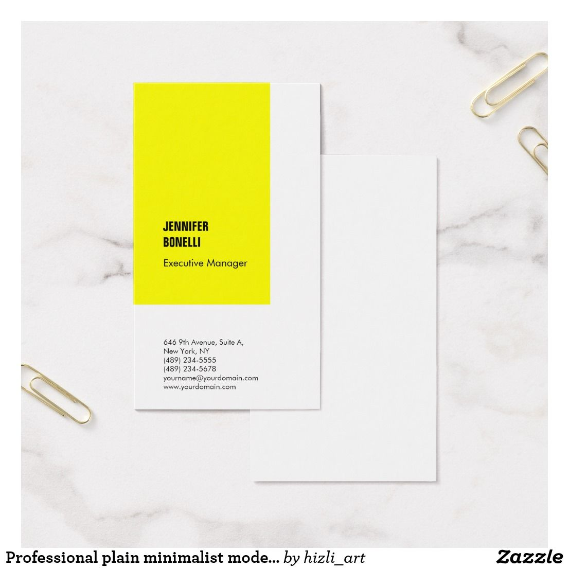 Lovely plain white business cards images business card ideas professional plain minimalist modern yellow white business card reheart Choice Image