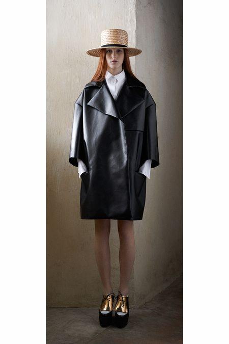 Celine Pre-Fall   leather jacket / straw hat #ineed