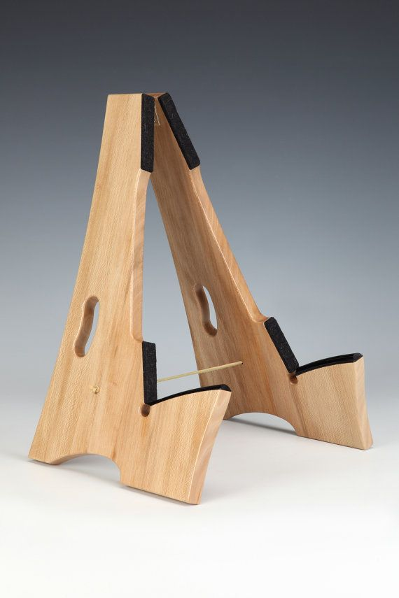 Slay-Frame wooden guitar stand in QS American Sycamore wood